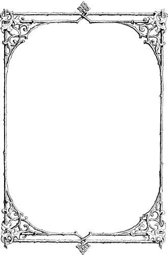 Free clip-art: Victorian border of twigs and leaves