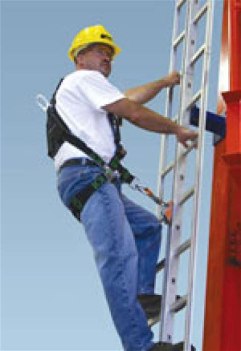 GlideLoc Fall Protection for Climbing Fixed Ladders