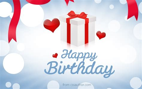 Beautiful Birthday greetings card PSD for Free Download