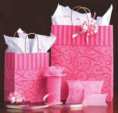 Pink Swirl Paper Shopping Bags   Many of the small