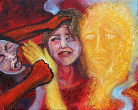 Prophetic Ms 37 Why Do You Strike Me? Painting by Anne