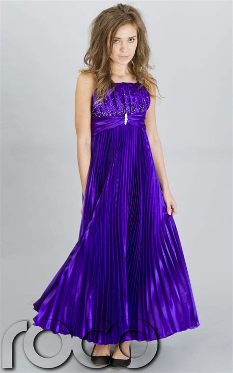 purple pageant dresses for girls   Girls Purple Pleated
