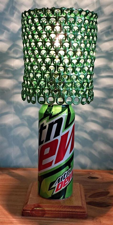 Mountain Dew Soda Can Lamp with Pull Tab Lampshade The Dorm