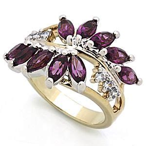 Lab Amethyst Floral Beauty Size 7   Fashion rings