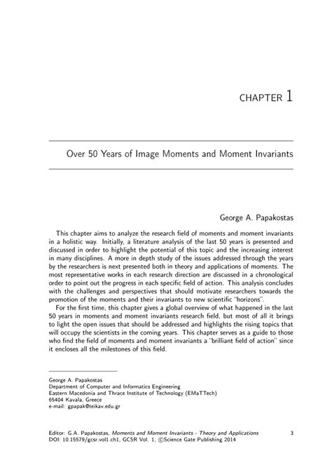 (PDF) Over 50 Years of Image Moments and Moment Invariants
