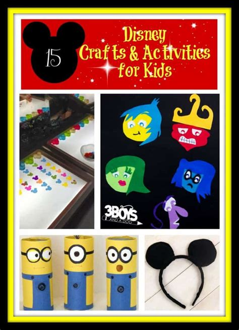 15 Disney Crafts and Activities for Kids – 3 Boys and a Dog
