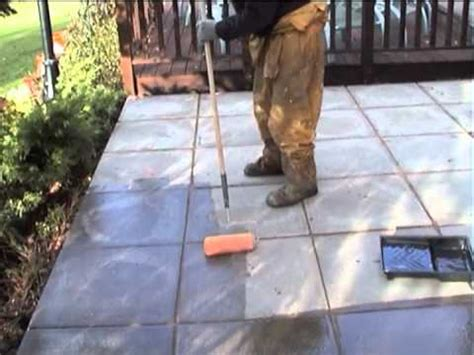 Patio Sealer Application for Protection Against Frost and