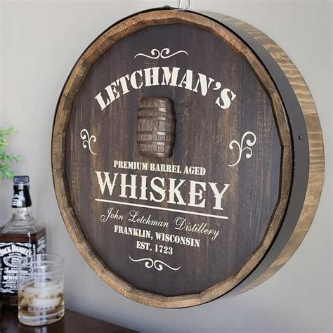 Personalized Whiskey Barrel Sign - asimplertime
