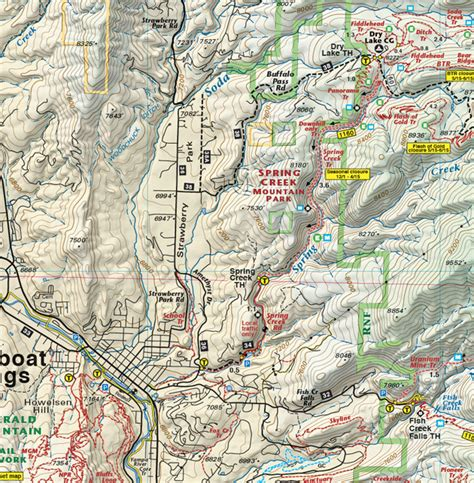 Steamboat - Routt National Forest Trails Topo Map