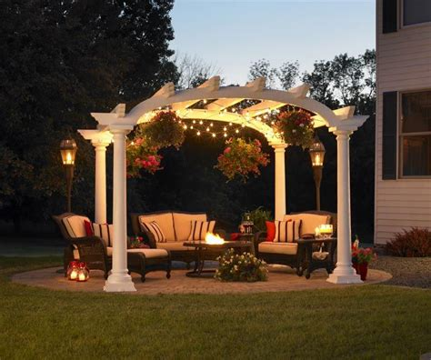 Pergola Lights Add Up To The Romantic Look Of The Outdoors