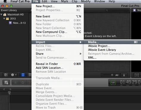 Best workflow to import videos and projects into Final Cut