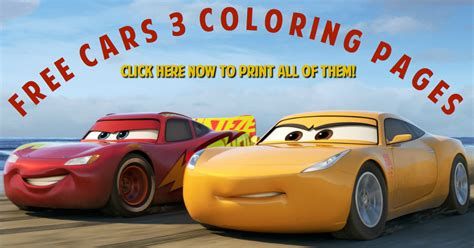 Free Cars 3 Coloring Pages   Simply Being Mommy