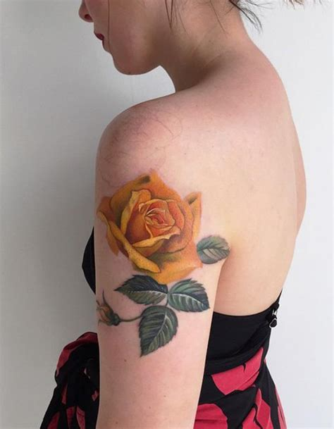 Yellow Rose Tattoos Designs, Ideas and Meaning   Tattoos