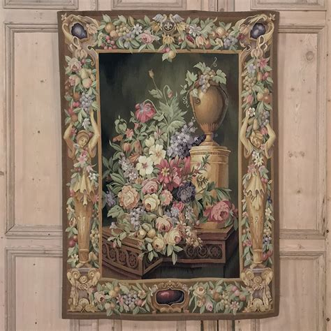 Hand Made French Aubusson Style Tapestry