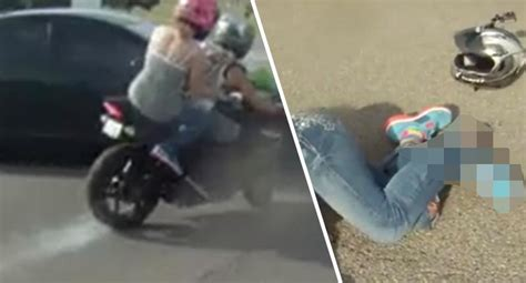 Woman Loses Foot In Horrific Motorcycle Crash Caught On Film