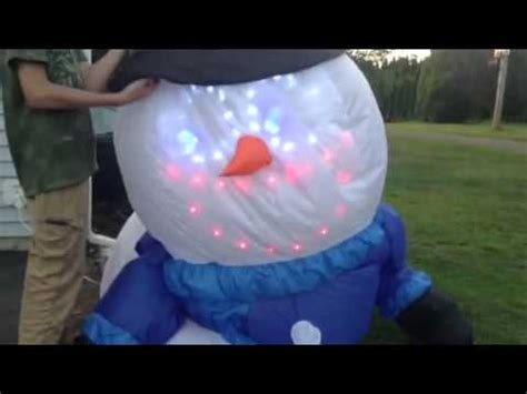 Gemmy Inflatable Singing Snowman Unboxing And Review - YouTube