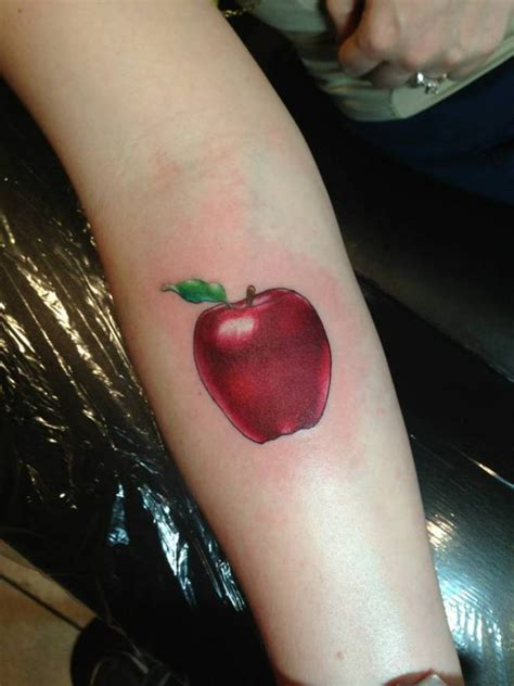 Apple Tattoos Designs, Ideas and Meaning   Tattoos For You