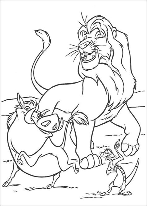 Coloring pages: Coloring pages: Lion King, printable for