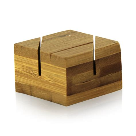 Bamboo Double Card Holder 1