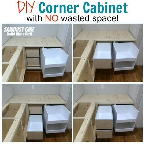 Blind corner cabinet with NO wasted space! - Sawdust Girl®