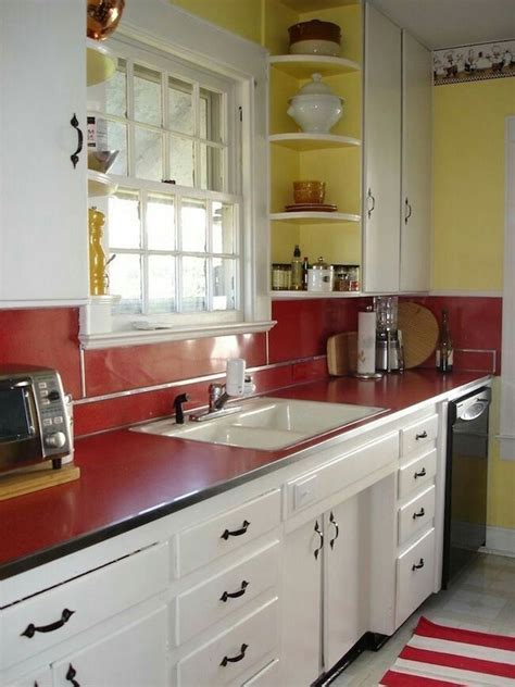 Pin by jane lea on kitchen | Red kitchen accents, Kitchen