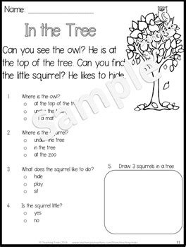 Fall Activities: Fall Reading Comprehension Worksheets by