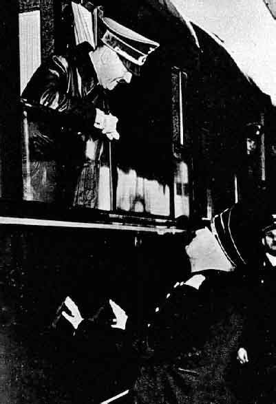 Hitler meets Mussolini at the Brenner Pass