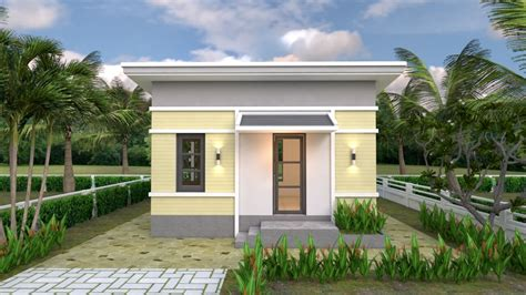 One Bedroom House Plans 6×6 With Shed Roof - Engineering