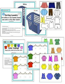 Clothing / Laundry Life Skill File Folders (Special