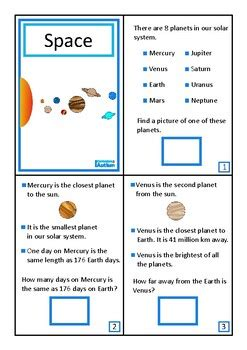 Space Solar System Book Autism Science Reading
