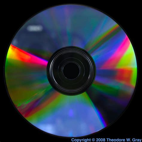 Tellurium suboxide DVD-RW disk, a sample of the element
