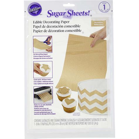 Shimmering Gold Edible Decorating Paper | Wilton