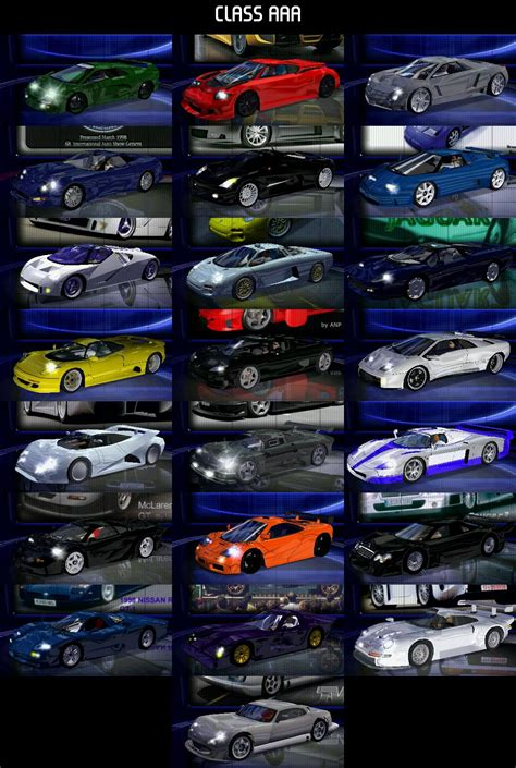 Class AAA cars by nfsfan83 | Need For Speed High Stakes