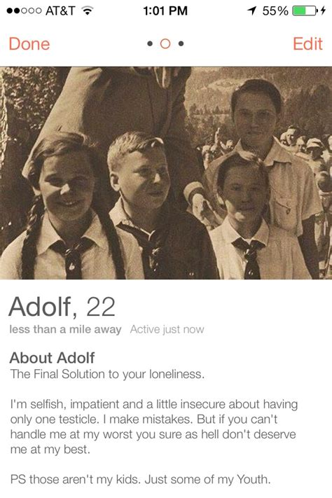 Some dude joined Tinder as Hitler and people actually
