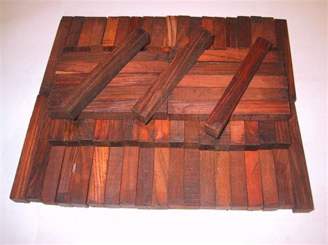 KING Cocobolo Rosewood Pen Blanks-50 pieces 5/8 x 5/8 x 5