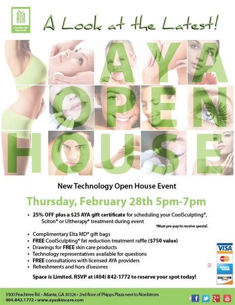 You're Invited to AYA Medical Spa's New Technology Open House